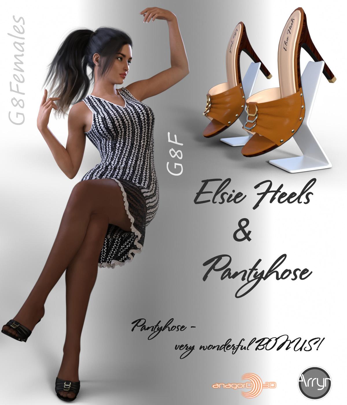 Elsie Heels and Pantyhose G8F