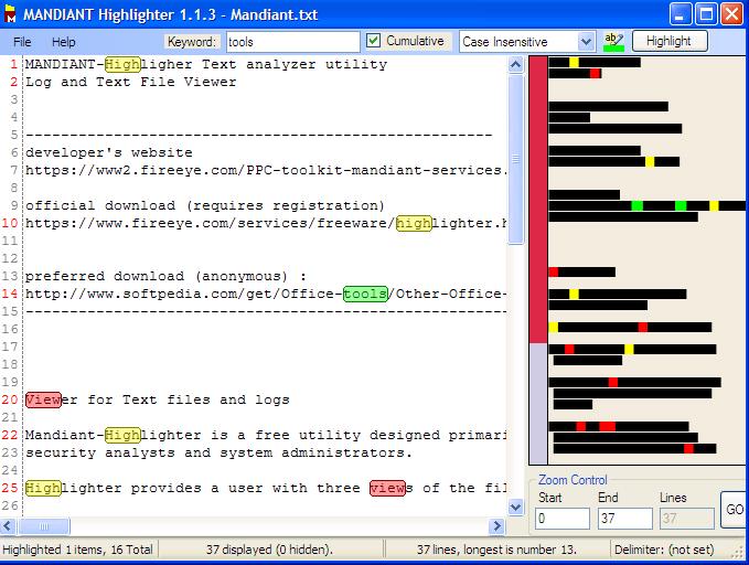 Mandiant Highlighter - Text/Log analyzer - The Portable