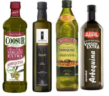 Aceite de oliva Arbequina (Coosur, Borges, Abril...), Aceite Arbequina, AOVE Arbequina, aceite de oliva virgen extra Arbequina