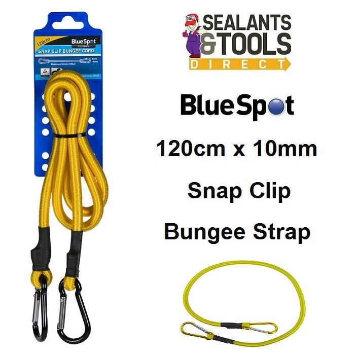 Blue Spot Snap Clip Bungee Cord Orange 120cm 45445