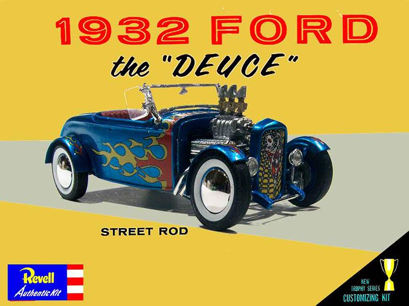 Revell-Trophy-Street-Rod-Box-Art-Detail-
