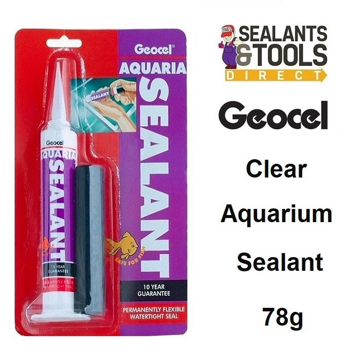 Geocel Aquaria Aquarium Silicone Sealant 78g CLEAR