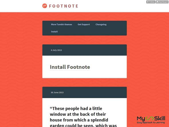 Footnote Theme