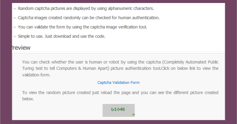 Captcha Image Verification PHP Script