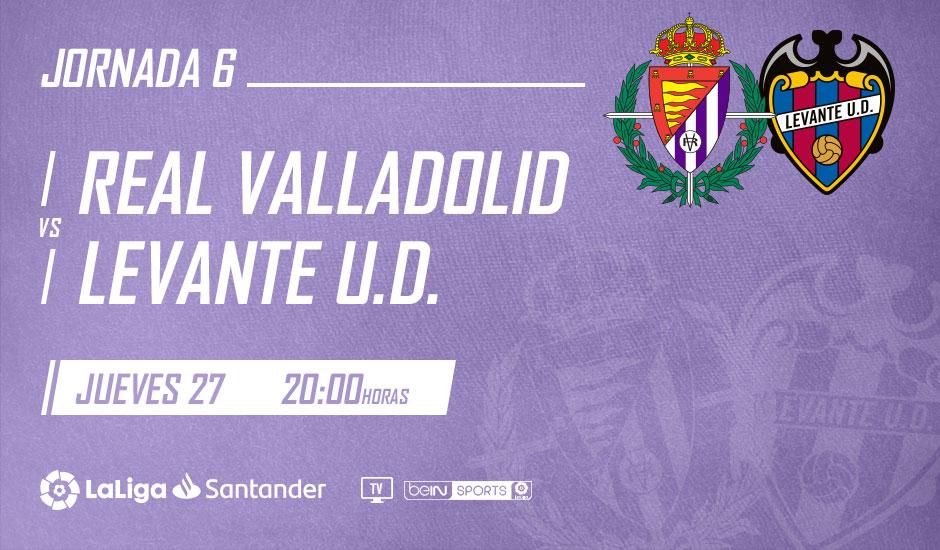Real Valladolid - Levante U.D. Jueves 27 de Septiembre. 20:00 Jornada_6