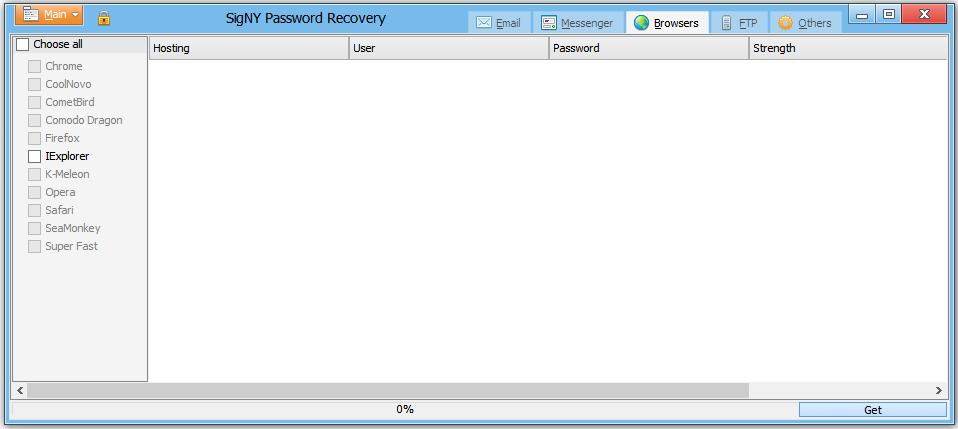 SigNY Password Recovery