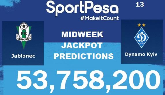 Sportpesatips - Jablonec vs Dynamo Kiev Predictions & H2H:: Sportpesa Jackpot Predictions