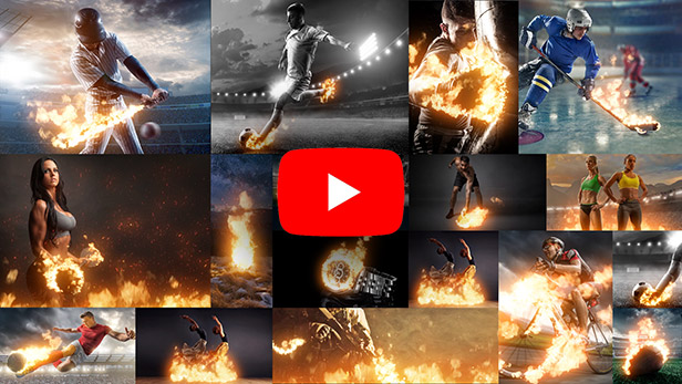 Animated Fire 2 Photoshop After Effects Premiere Effect Promo