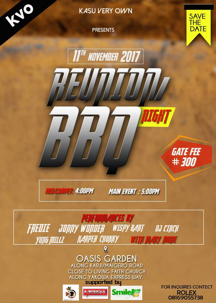 EVENT: KVO'S REUNION BBQ NIGHT (11TH NOV. 2017)