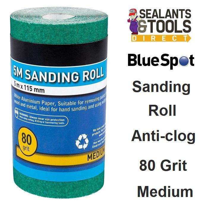 Blue Spot Sanding Sand Paper Roll - 80 Grit Medium 19858