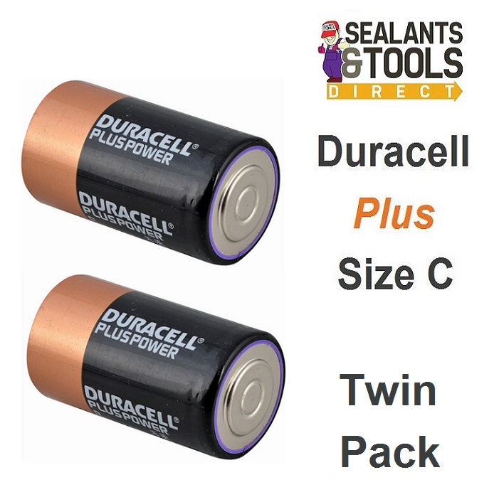 Duracell Size C Batteries Pack of 2