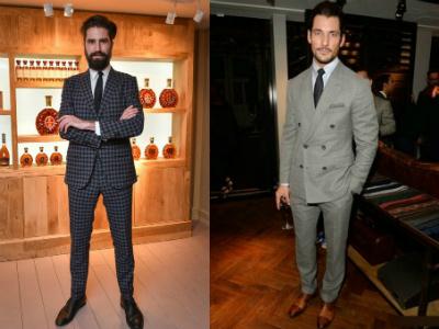 How gentlemen from Britain wear suits