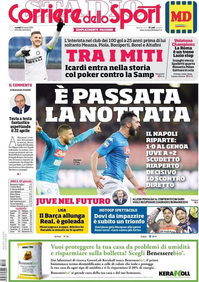 عناوين الصحف الايطاليه 19/3/2018 DYo_H_z9_X0_AAf_HW4.