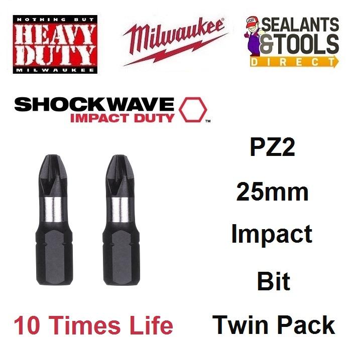 Milwaukee PZ2 25mm Pozi Drive Impact Bit 4932430863
