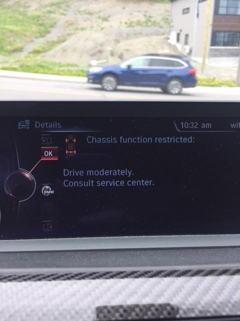 Chassis function restricted