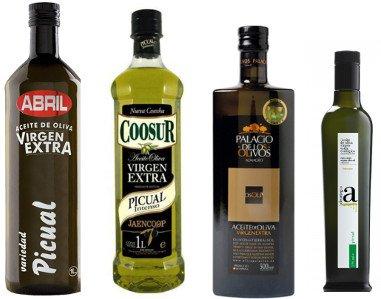 Aceite de oliva Picual, Aceite Picual, Aceite de oliva Virgen Extra Picual, monovarietal, botella Picual