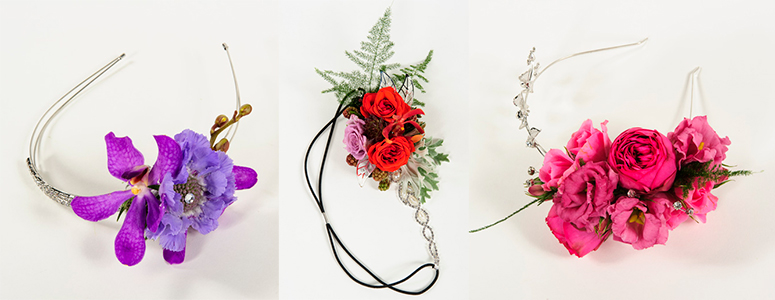 6 sparkle headbands florist flower crown workshop