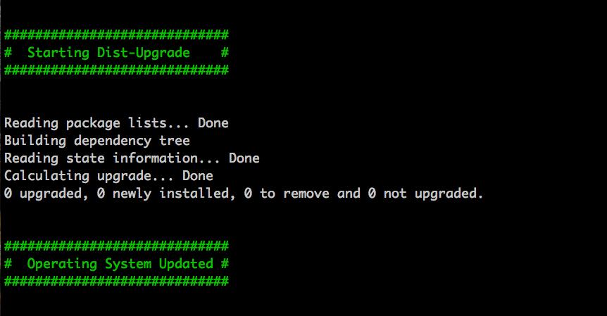 Screenshot 2 of ubuntu-update.sh run