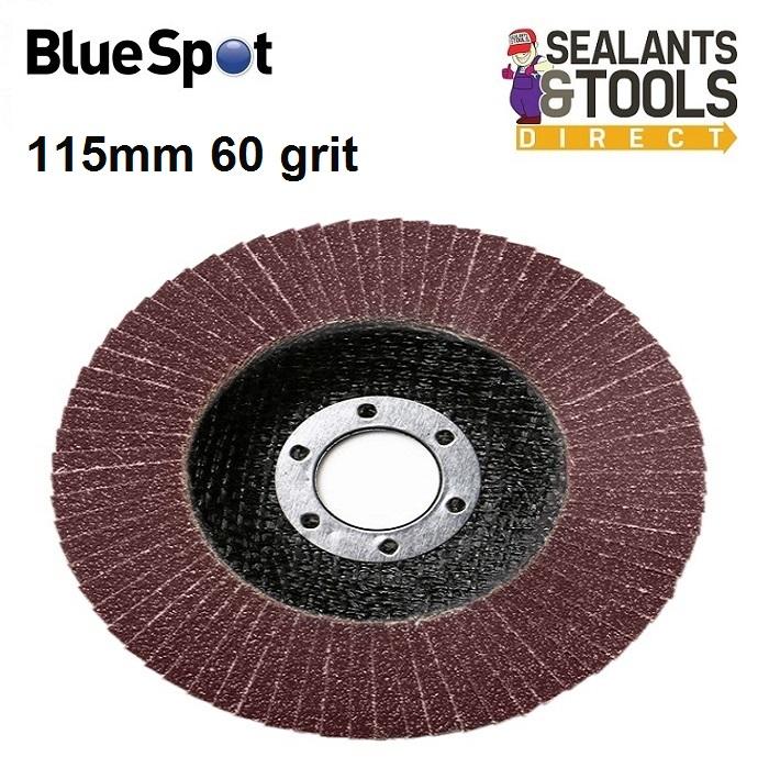 Blue Spot 60 Grit Flap Sanding Disc 115mm 19692