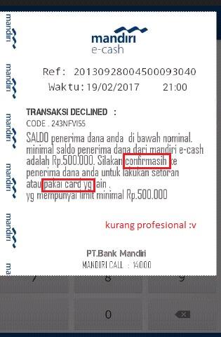 HAtI HATI gan Modus Penipuan e-cash Mandiri