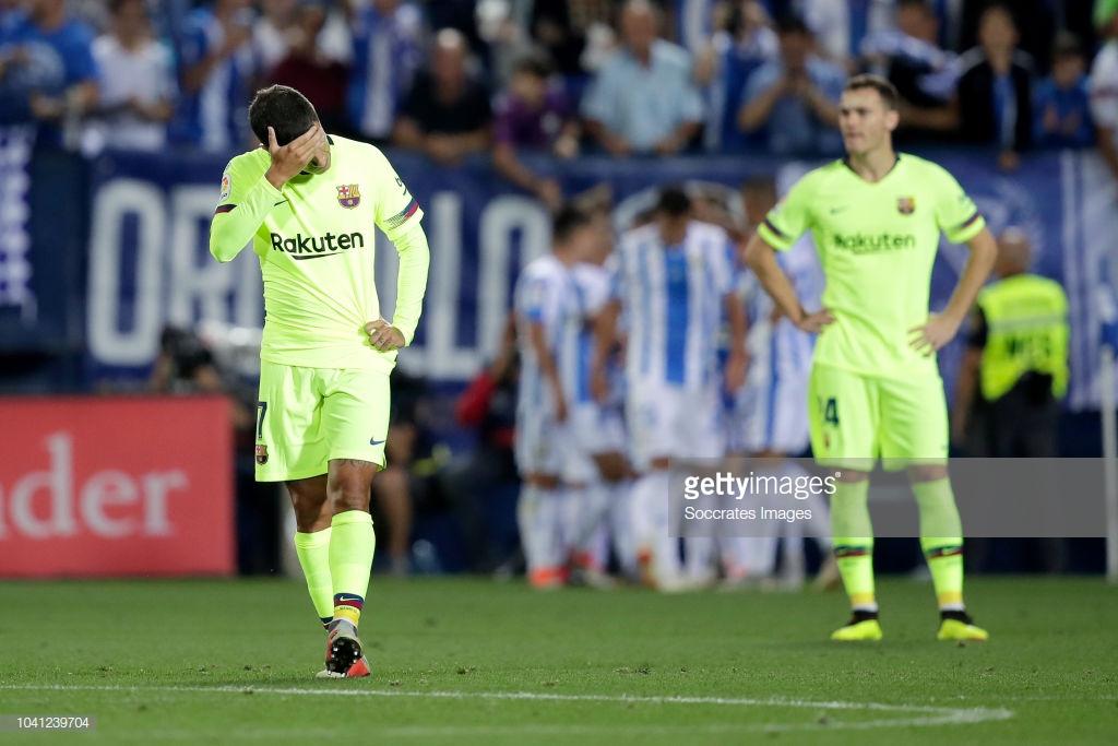 صور مباراة : ليغانيس - برشلونة 2-1 ( 26-09-2018 ) P