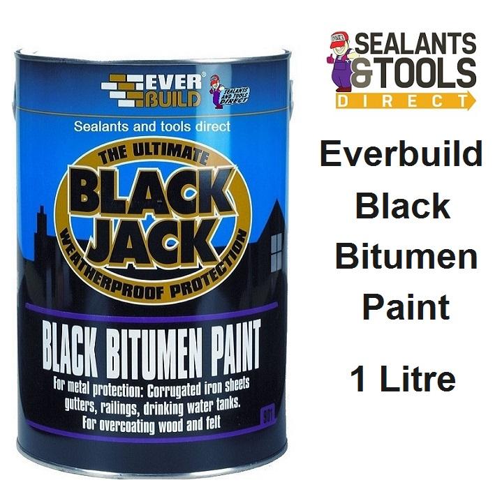 Everbuild 901 Bitumen Paint 1 Litre 90101