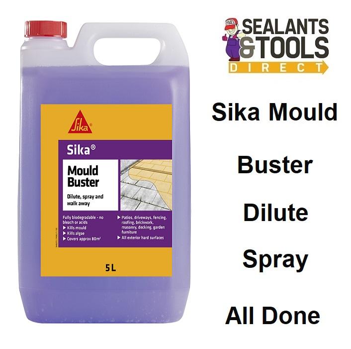 Sika Mould Buster Kills Moss Algae Mould 5 Litre SKMBUST5