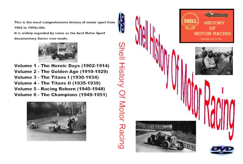 SHELL HISTORY OF MOTOR RACING 6 DVD BOXSET