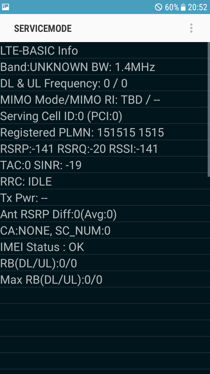 Mobile network not avaible