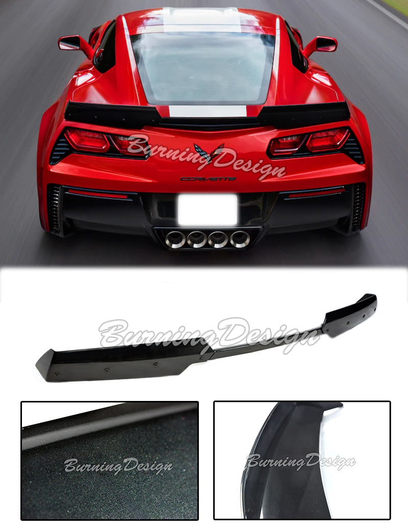 Details about For 14-Up Z06 Z07 Corvette C7 Rear Spoiler Carbon Flash Stage  2 Upgrade Stingray