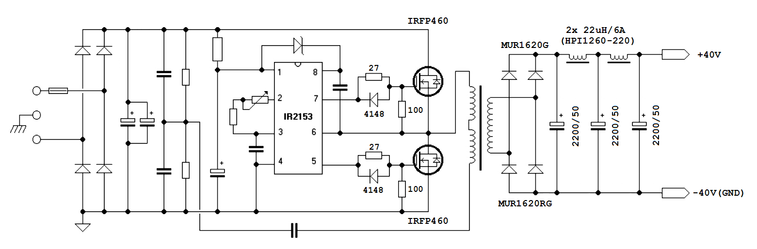 Audio Smps 700w Ir2153 Archive Diysmps Circuits 8085 Projects Blog Scr Driver Amplifier Circuit