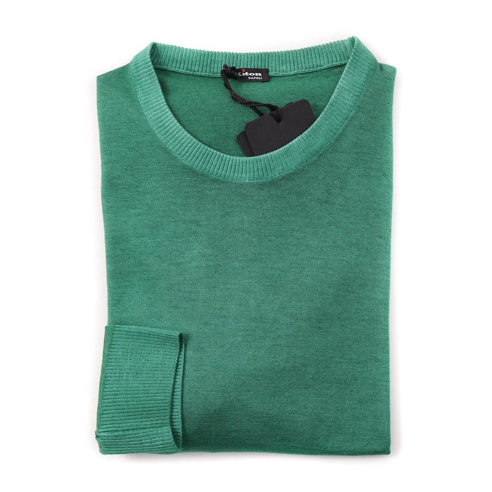7032e5ab416d0 Details about NWT  1995 KITON Emerald Green Lightweight Cashmere-Silk  Sweater M (Eu 50)