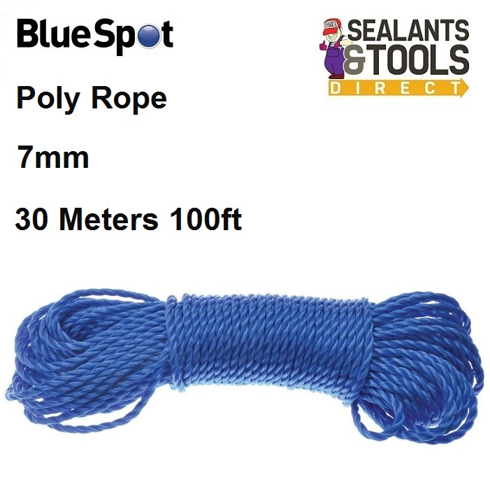 Blue Spot Tools Poly Rope 7mm Blue 80422