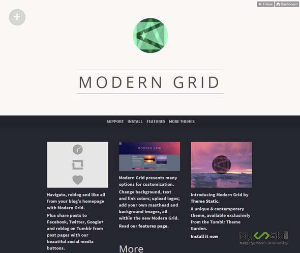 Modern Grid free tumblr theme