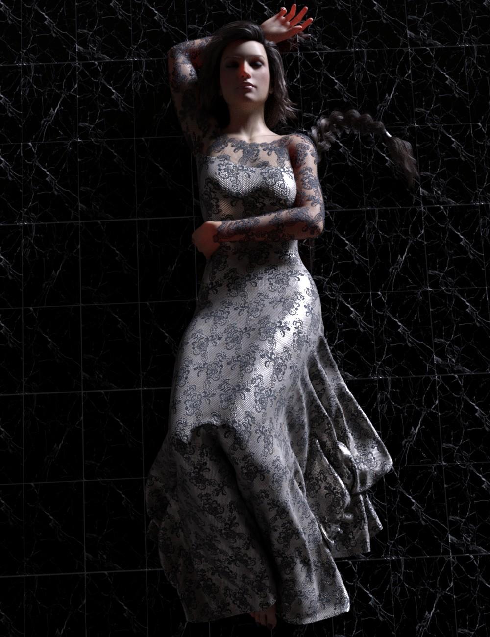 dForce Gossamer Grace Dress for Genesis 8 Female(s)
