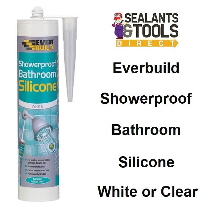 Everbuild Showerproof Bathroom Silicone sealant C3 Shower