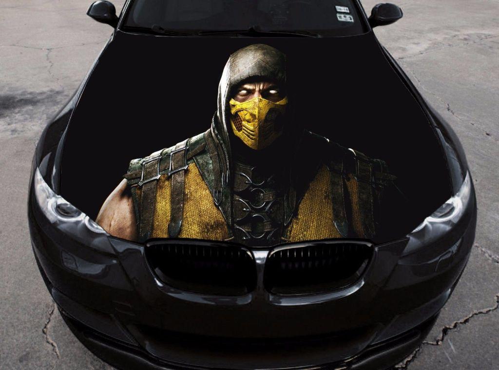 Mortal Kombat Assassins 2# Car Hood Wrap Color Vinyl Sticker Decal Fit Any Car