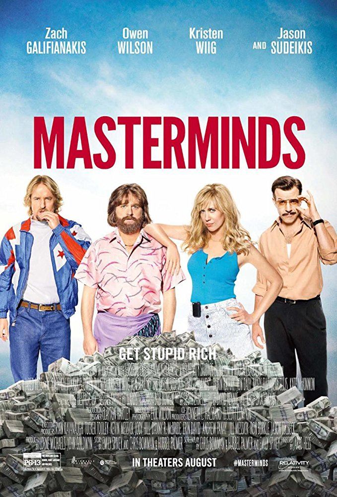 Masterminds (2016) BluRay 720p 750MB
