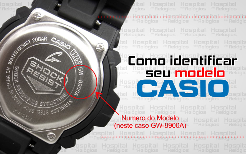 b0c3f5da92e Pulseira Casio Borracha - Hospital dos Relógios - hospitaldosrelogios