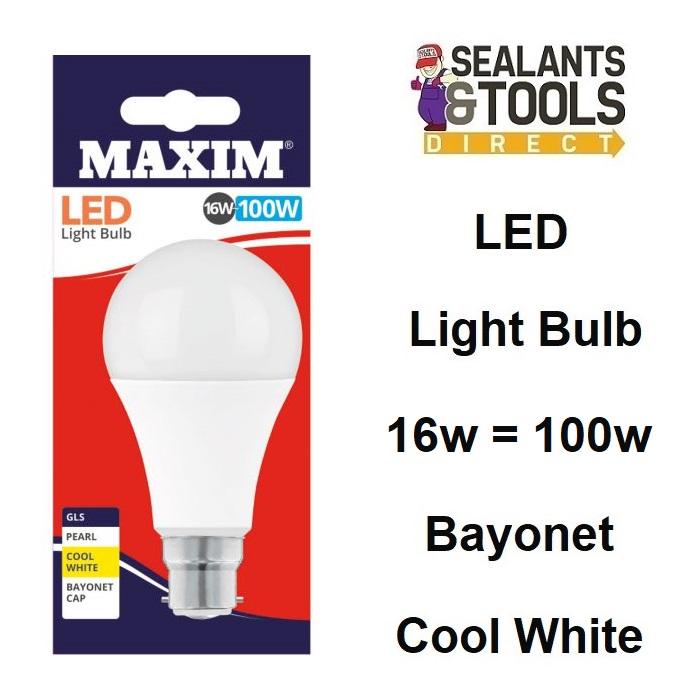 Maxim LED Low Energy Light Bulb 16w = 100 Watts