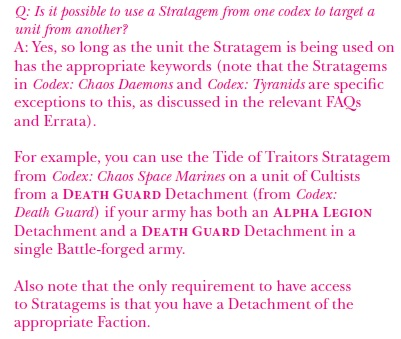 Is there any rule about <KEYWORD> stratagems? - Forum