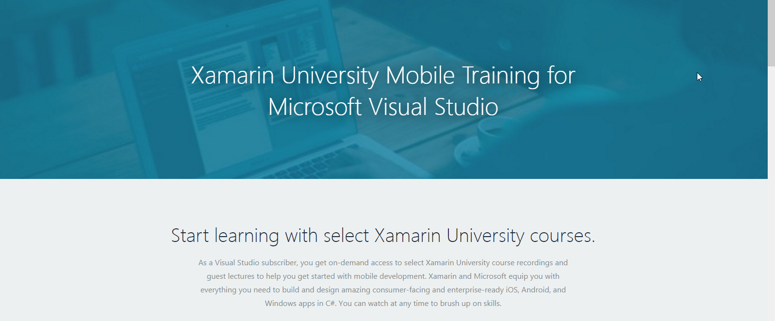 Xamarin University Visual Studio Training January 2017