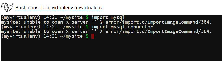 mysql ModuleNotFoundError : Forums : PythonAnywhere