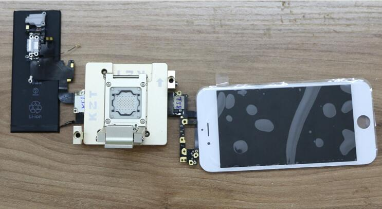 Wl In Iphone Nand Test Fixture Tool on Iphone 4s Motherboard