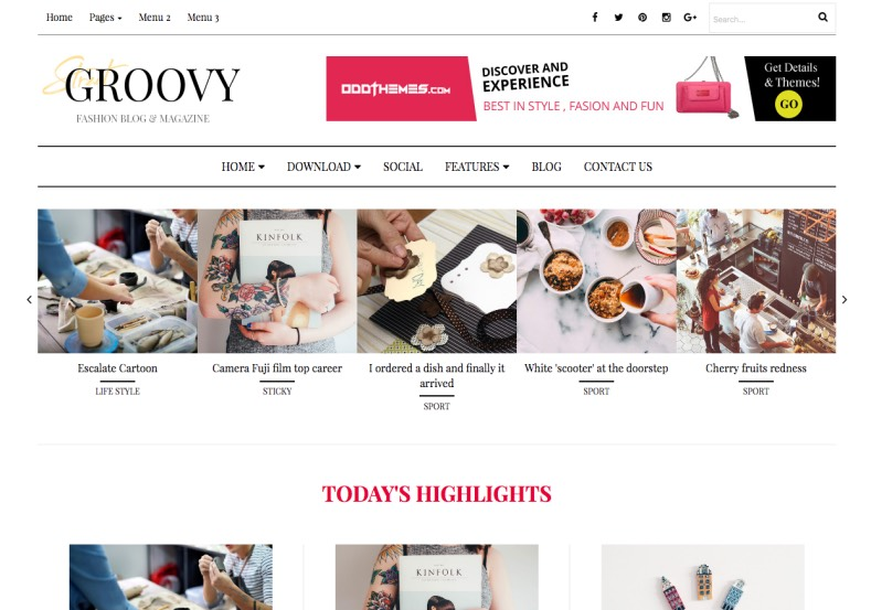 Groovy_Blogger_Template