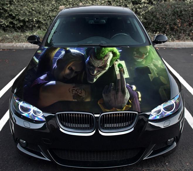 Details About Vinyl Car Hood Graphics Decal The Joker Batman Gotham Dark Knight Sticker