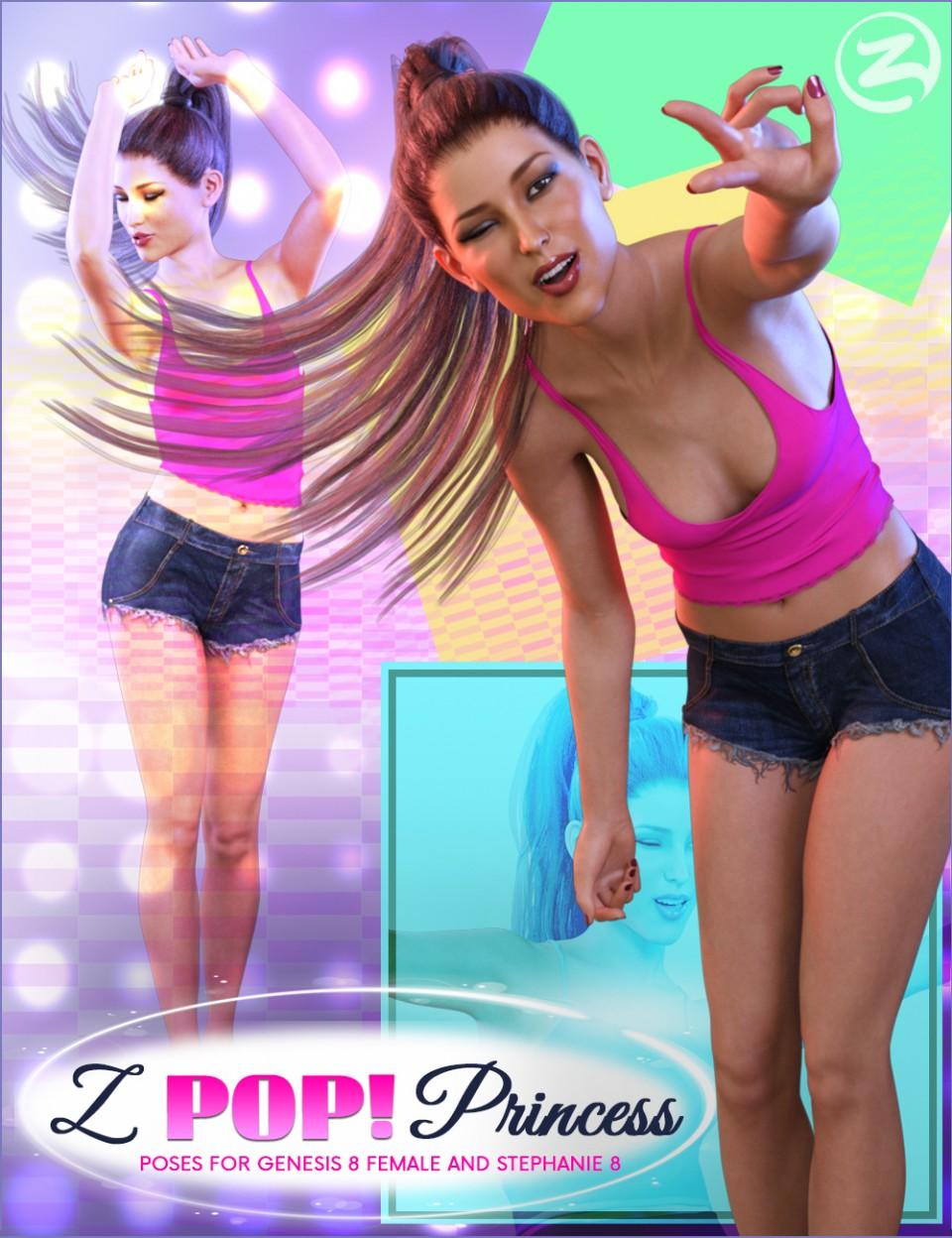[REPOST] Z Pop Princess – Poses for Genesis 8 Female and Stephanie 8