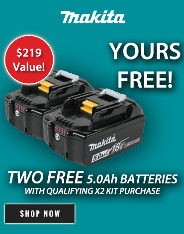 Free Makita batteries with puchase of kit