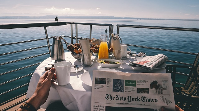 Private breakfast on cruise