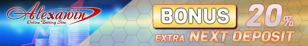 Bonus Next Deposit 20%